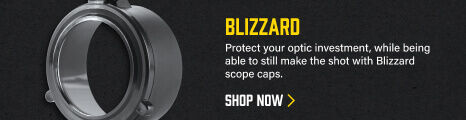 Blizzard Scope Cover on dark background
