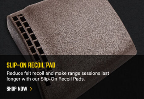 Slip-On Recoil Pad on dark background