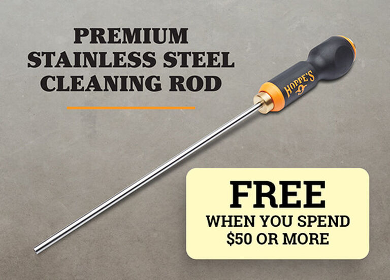 Hoppe's Premium Stainless Steel Cleaning Rod on light background
