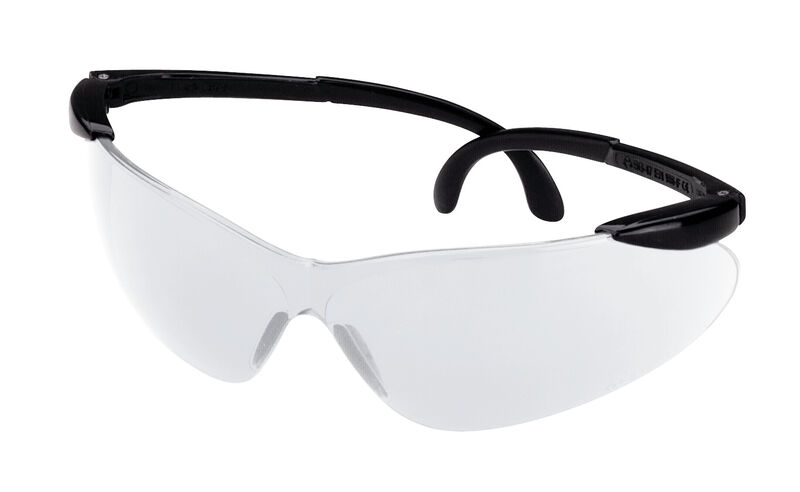 Black/Clear Ballistic Shooting Glasses - Open Frame