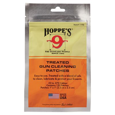 Treated Gun Cleaning Patches