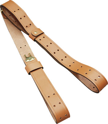 Leather Military Sling and Carry Brown Strap 1″ x 44″
